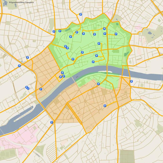 Stadt am Main Karte